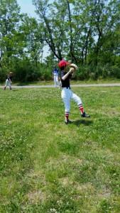 少年野球チームに所属するチーム福生女子!